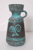 Ü-Keramik handled vase